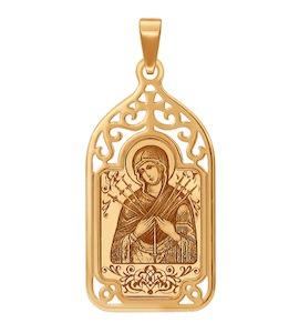 «Семистрельная икона Божьей Матери»  из золота 103608