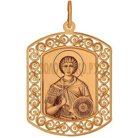 Иконка из золота с лазерной обработкой 103857