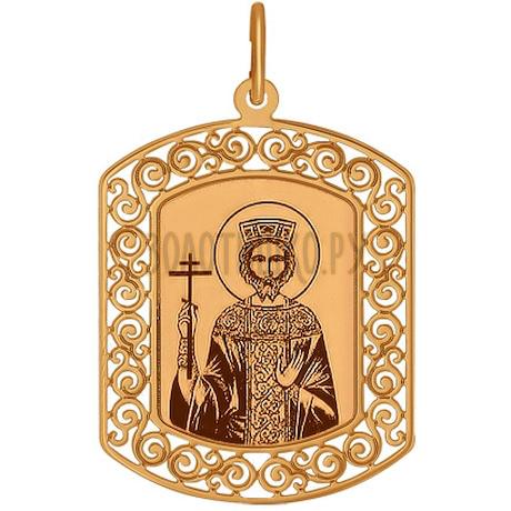 Иконка из золота с лазерной обработкой 103868