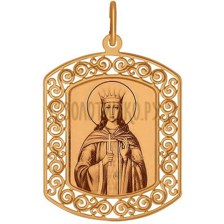Золотая иконка «Святая великомученица Екатерина» 103891