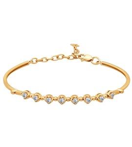 Браслет жёсткий из золота с бриллиантами 1050036