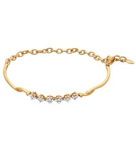 Браслет жёсткий из золота с бриллиантами 1050040