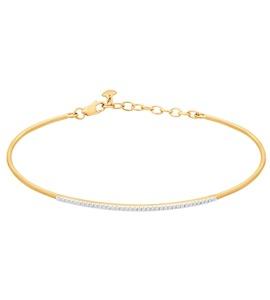 Браслет жёсткий из золота с бриллиантами 1050085