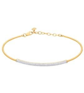 Браслет жёсткий из золота с бриллиантами 1050087
