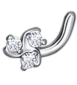 Пирсинг в нос c бриллиантами «Трилистник» 1060004