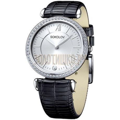 Женские серебряные часы 106.30.00.001.01.01.2