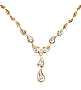 Золотое колье с бриллиантами 1070010