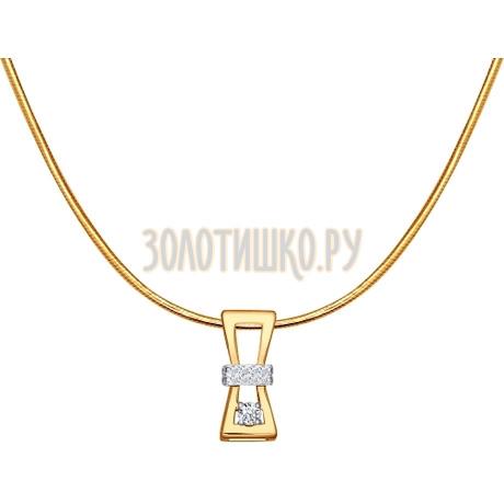 Золотое колье «Песочные часы» 1070012