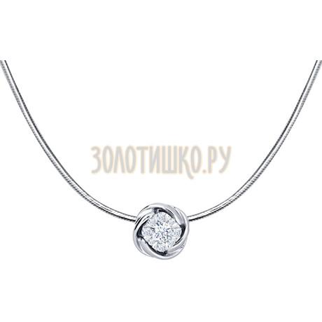 Колье из белого золота с бриллиантами 1070015