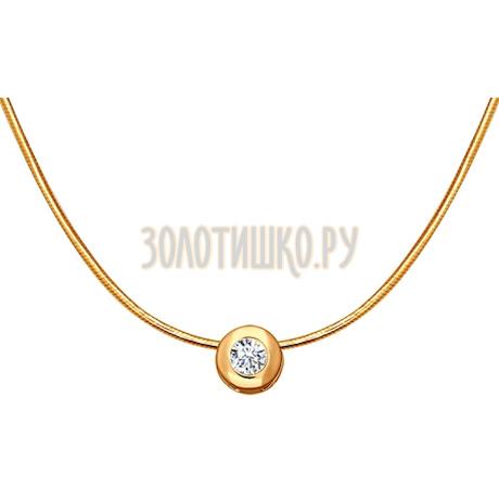 Колье из золота с бриллиантом 1070016
