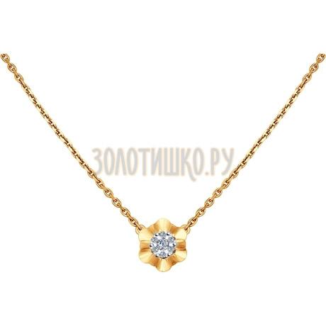 Колье из комбинированного золота с бриллиантами 1070032