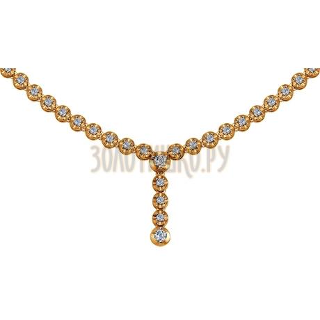 Колье из золота с бриллиантами 1070040