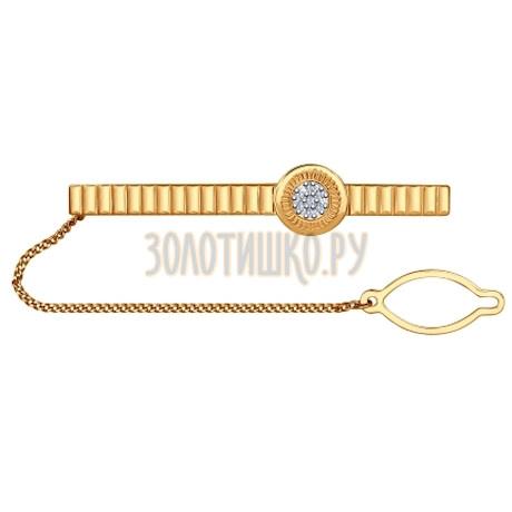 Зажим для галстука из золота с бриллиантами 1090004