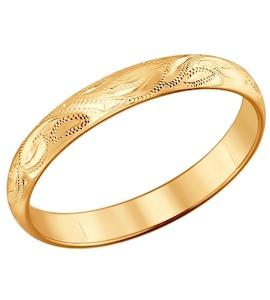 Гравированное обручальное кольцо 110048