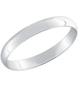 Гладкое обручальное кольцо из белого золота 110063