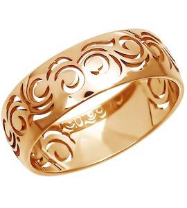 Ажурное обручальное кольцо из золота 110097