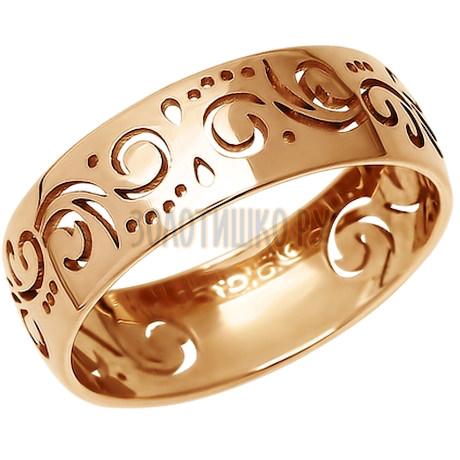 Ажурное обручальное кольцо 110099