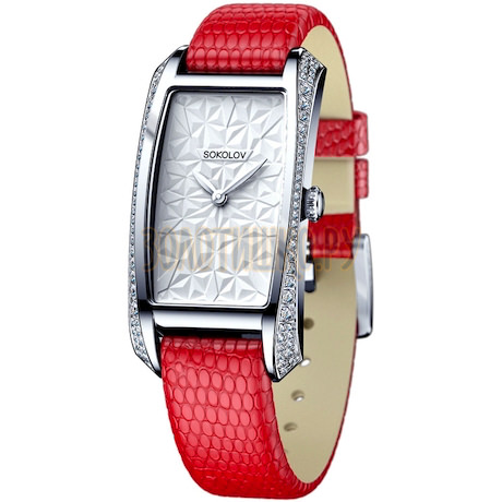 Женские серебряные часы 119.30.00.001.03.03.2