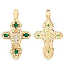 Женский православный крест с фианитами 121276