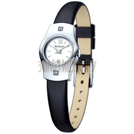 Женские серебряные часы 123.30.00.001.01.01.2