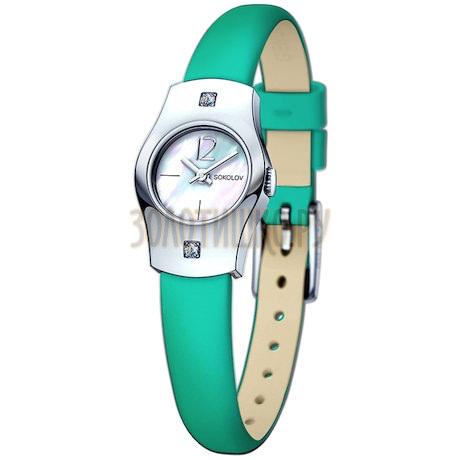 Женские серебряные часы 123.30.00.001.05.07.2