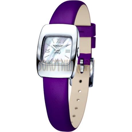 Женские серебряные часы 124.30.00.000.02.06.2