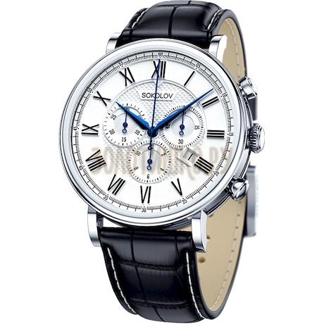 Мужские серебряные часы 125.30.00.000.01.01.3