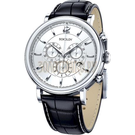 Мужские серебряные часы 125.30.00.000.03.01.3