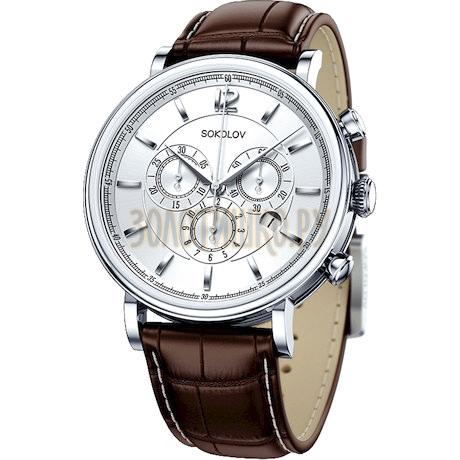 Мужские серебряные часы 125.30.00.000.03.02.3