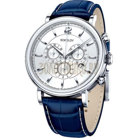 Мужские серебряные часы 125.30.00.000.03.03.3