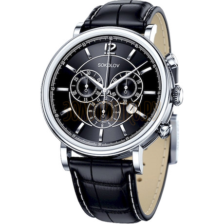 Мужские серебряные часы 125.30.00.000.04.01.3