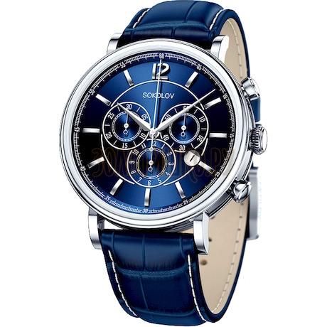 Мужские серебряные часы 125.30.00.000.05.03.3