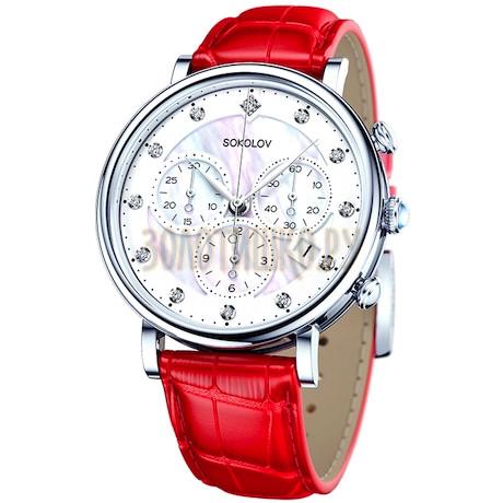 Женские серебряные часы 126.30.00.000.03.03.2