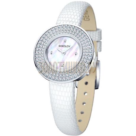 Женские серебряные часы 128.30.00.001.01.01.2