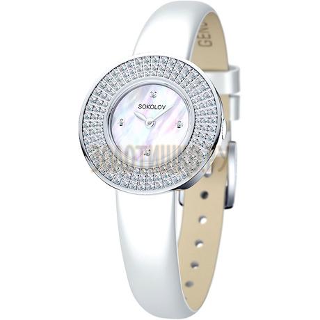 Женские серебряные часы 128.30.00.001.01.02.2