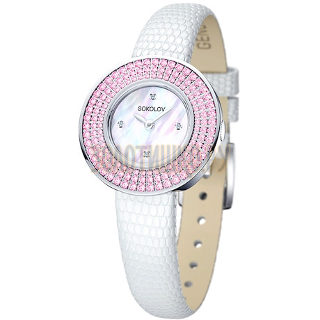 Женские серебряные часы 128.30.00.002.01.01.2