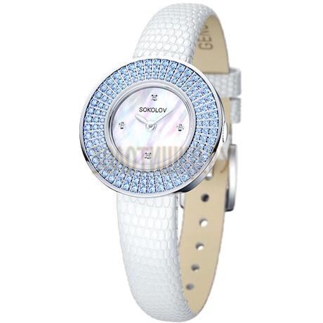 Женские серебряные часы 128.30.00.003.01.01.2