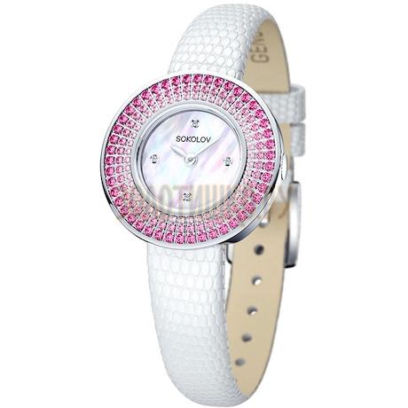 Женские серебряные часы 128.30.00.006.01.01.2