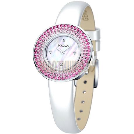 Женские серебряные часы 128.30.00.006.01.02.2