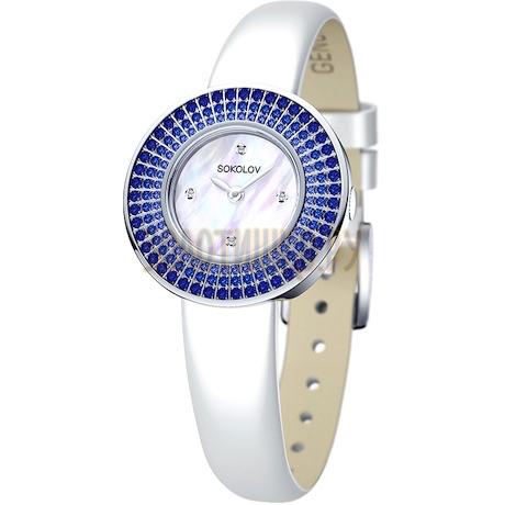 Женские серебряные часы 128.30.00.007.01.02.2