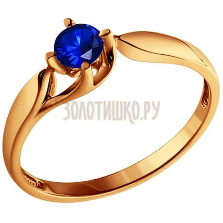 Кольцо из золота с сапфиром 2010582