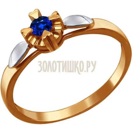Кольцо из золота с сапфиром 2010686