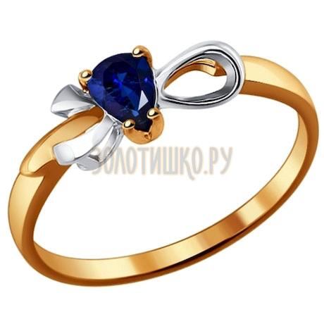 Кольцо из золота с сапфиром 2011035