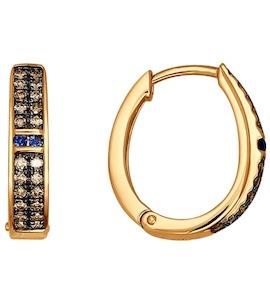 Серьги из золота с бриллиантами и сапфирами 2020715