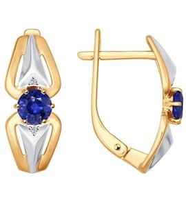 Серьги из золота с бриллиантами и сапфирами 2020850