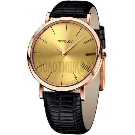 Женские золотые часы 204.01.00.000.03.01.2