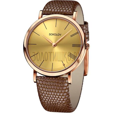 Женские золотые часы 204.01.00.000.03.03.2
