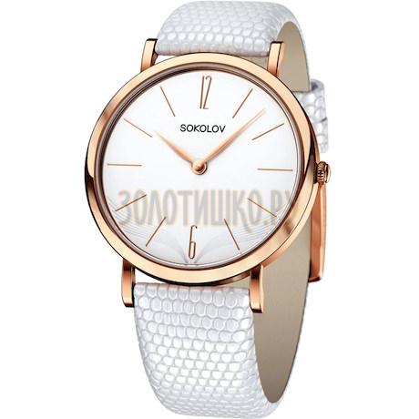 Женские золотые часы 204.01.00.000.05.02.2