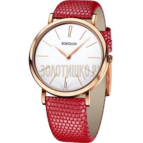 Женские золотые часы 204.01.00.000.05.04.2