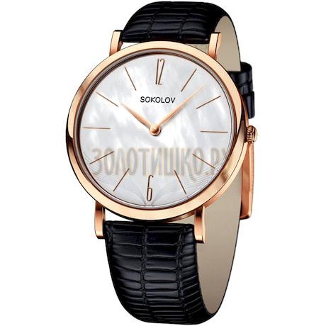 Женские золотые часы 204.01.00.000.06.01.2